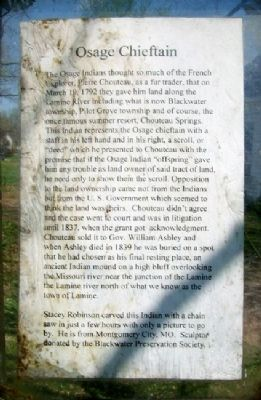 Osage Chieftain Marker image. Click for full size.