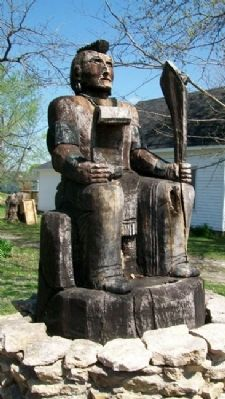 Osage Chieftain Wood Carving image. Click for full size.