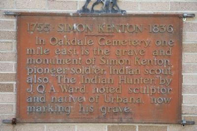 Simon Kenton Marker image. Click for full size.