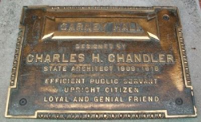 Original Carney Hall Marker image. Click for full size.