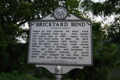 Brickyard Bend Marker image. Click for full size.