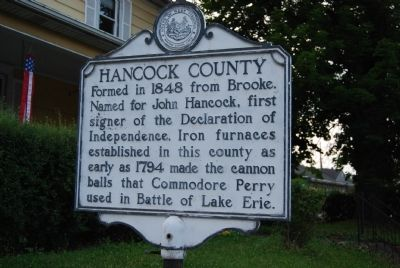 Hancock County Marker image. Click for full size.