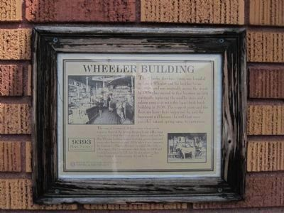 Wheeler Building Marker image. Click for full size.