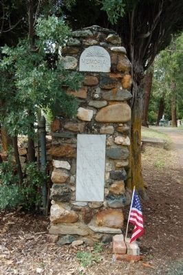 Memorial Entrance Marker, Left Pillar image. Click for full size.