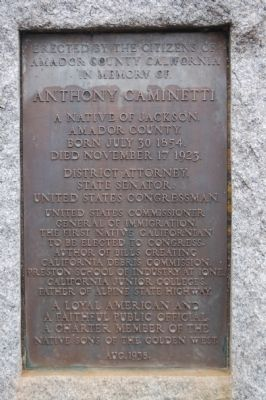 Caminetti Marker image. Click for full size.
