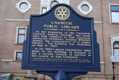 Carnegie Public Library Marker image. Click for full size.
