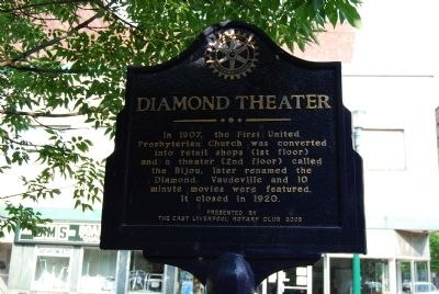 Diamond Theater Marker image. Click for full size.