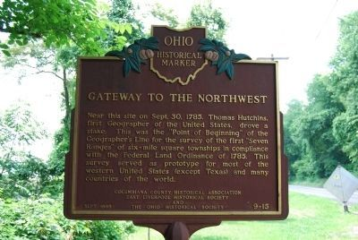 Gateway To The Northwest Marker image. Click for full size.