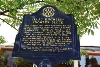 Isaac Knowles - Knowles Block Marker image. Click for full size.