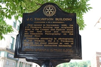 J.C. Thompson Building Marker image. Click for full size.