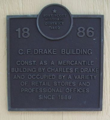 C. F. Drake Building Marker image. Click for full size.