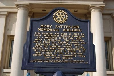 Mary Patterson Memorial Building Marker image. Click for full size.