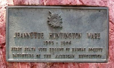 Jeannette Huntington Ware Marker image. Click for full size.