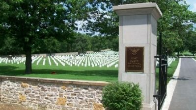 Fort Scott National Cemetery Entrance image. Click for full size.