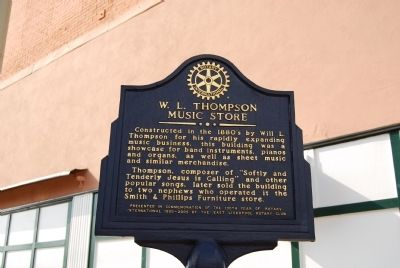 W.L. Thompson Music Store Marker image. Click for full size.