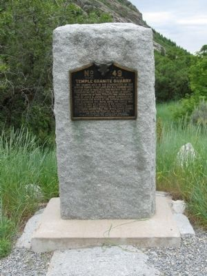 Temple Granite Quarry Marker image. Click for full size.