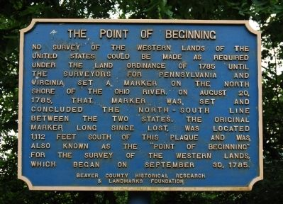 The Point of Beginning Marker image. Click for full size.
