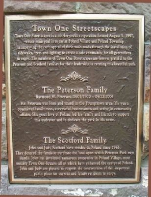 Peterson Park Town One Streetscapes Marker image. Click for full size.