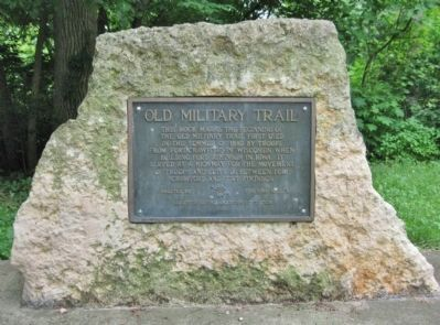 Old Military Trail Marker image, Touch for more information