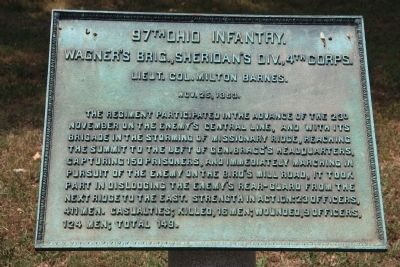 97th Ohio Infantry Marker image. Click for full size.