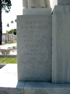 Sgt. Nick Matassini Marker: Right face image. Click for full size.