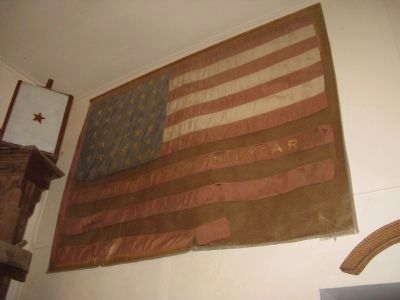 Flag Banner Originally Owned by the Downieville Chapter of the G.A.R. image. Click for full size.