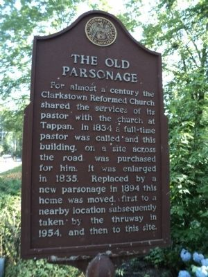 The Old Parsonage Marker image. Click for full size.