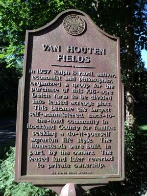 Van Houten Fields Marker image. Click for full size.