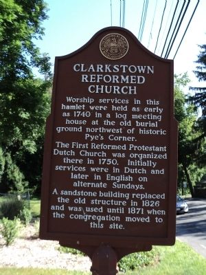 Clarkstown Reformed Church Marker image. Click for full size.