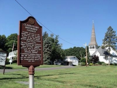 Marker at Clarkstown Reformed Church image. Click for full size.