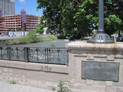 The D.A.R Marker on the Virginia Street Bridge. image. Click for full size.