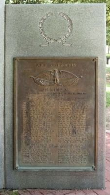 USS Columbia CL-56 Memorial, front right plaque image. Click for full size.