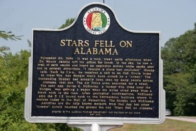 Stars Fell On Alabama Marker image. Click for full size.