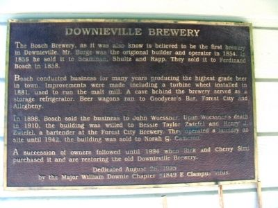 Downieville Brewery Marker image. Click for full size.