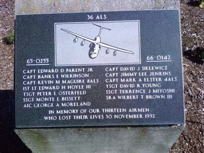 36th Airlift Squadron Memorial Marker image. Click for full size.