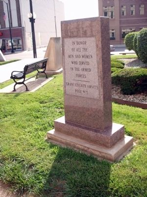 Full View - - Grant County (Indiana) Veterans Memorial Marker image. Click for full size.