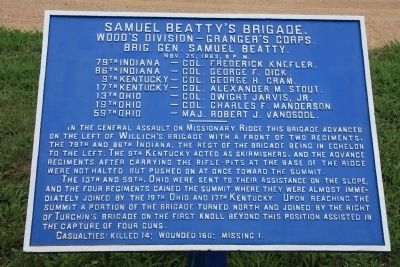 Samuel Beatty's Brigade Marker image. Click for full size.