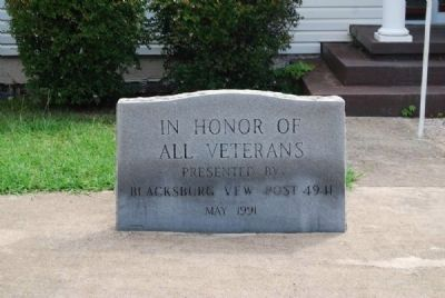 Blacksburg VFW Post 4941 Veterans Monument Marker image. Click for full size.