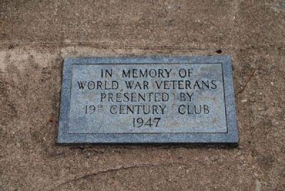 19th Century Club World War Veterans Monument image. Click for full size.