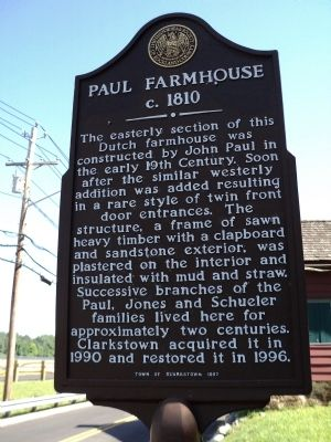 Paul Farmhouse Marker image. Click for full size.