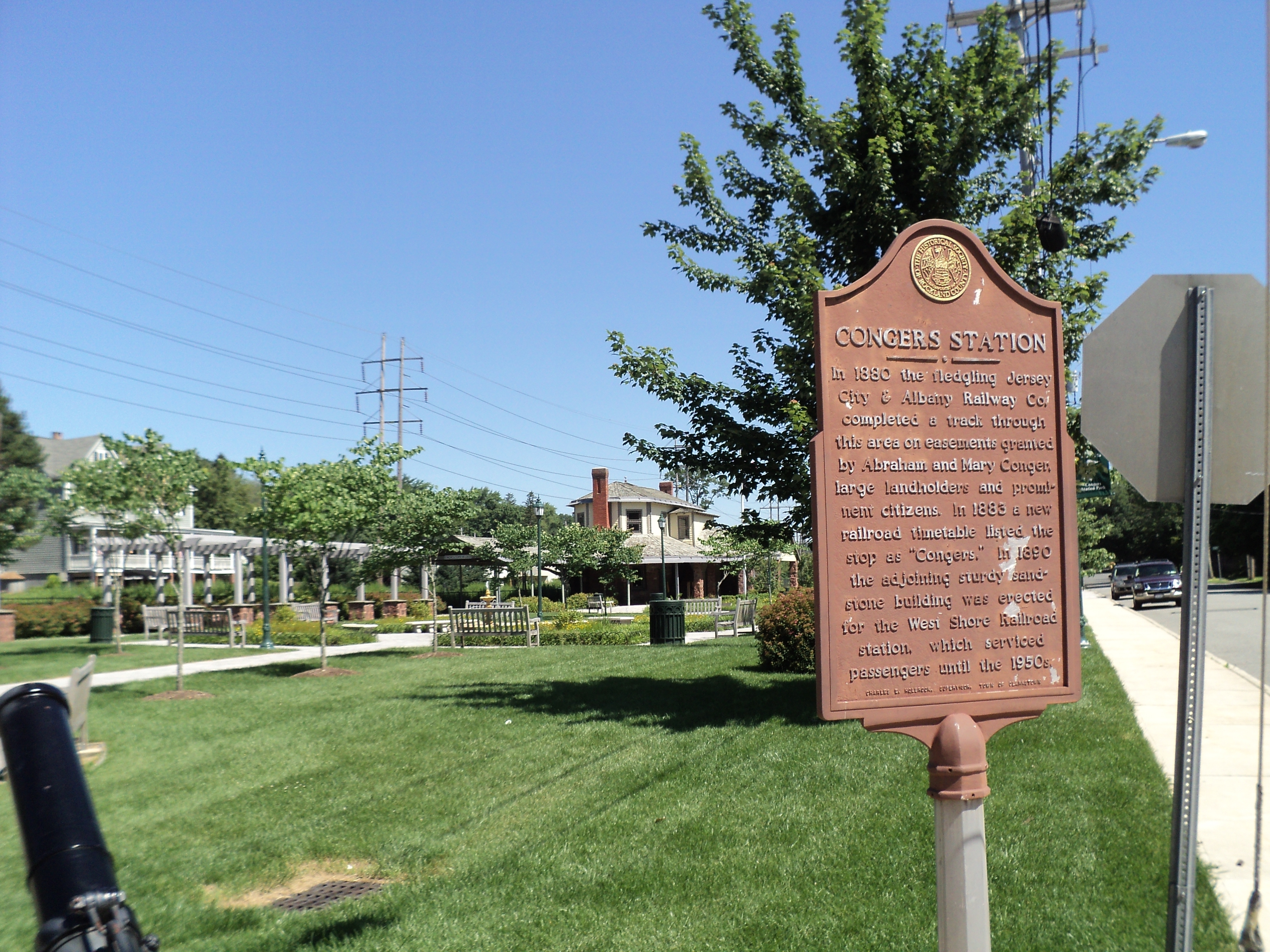 Congers Station Marker