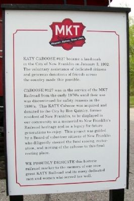 KATY Caboose #127 Marker image. Click for full size.