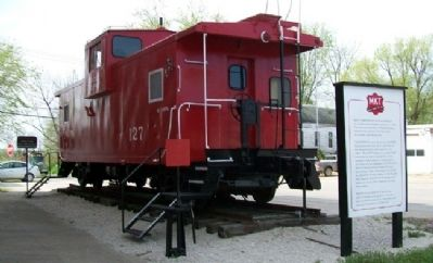 KATY Caboose #127 and Marker image. Click for full size.