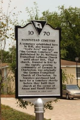 Hampstead Cemetery Marker image. Click for full size.