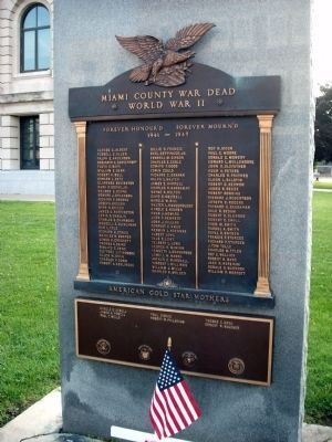 Miami County (Indiana) W. W. II War Memorial Marker image. Click for full size.