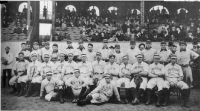 Boston Americans and Pittsburgh Pirates, Huntington Avenue Grounds, 1903 World Series image. Click for full size.