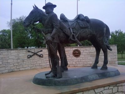 Buffalo Soldier Memorial sculpture image. Click for full size.