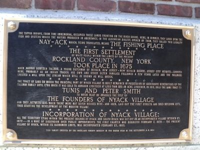 Nyack First Settlement Marker image. Click for full size.