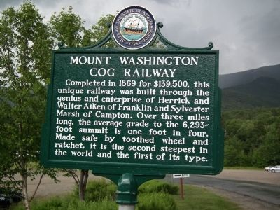 Mount Washington Cog Railway Marker image. Click for full size.