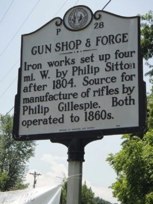 Gun Shop & Forge Marker image. Click for full size.